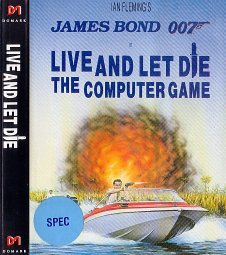 Caratula de 007: Live and Let Die para Spectrum