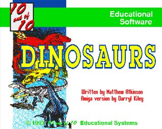 Pantallazo de 10 Out Of 10 Dinosaurs para Amiga