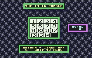 Pantallazo de 14-15 Puzzle, The para Commodore 64