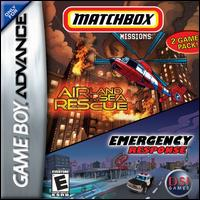 Caratula de 2 Game Pack: Matchbox Missions -- Emergency Response/Air, Land, & Sea Rescue para Game Boy Advance