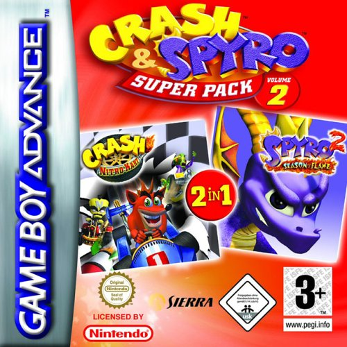 Caratula de 2 Games in 1 - Crash & Spyro Pack Volume 2 para Game Boy Advance