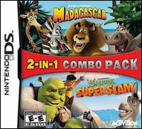 Caratula de 2 in 1 Game Pack: Madagascar and Shrek SuperSlam para Nintendo DS