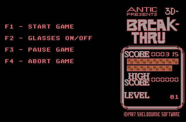 Pantallazo de 3D Break-Thru para Atari ST