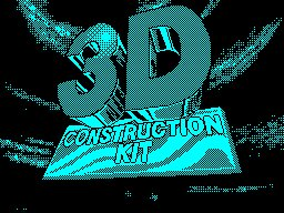 Pantallazo de 3D Construction Kit para Spectrum