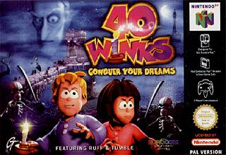 Caratula de 40 Winks: Conquer Your Dreams para Nintendo 64