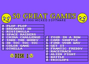 Pantallazo de 50 Great Games para Amiga