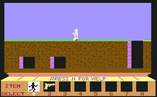 Pantallazo de A Journey to the Centre to the Earth para Commodore 64