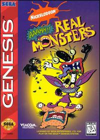 Caratula de AAAHH!!! Real Monsters para Sega Megadrive