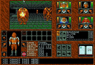 Pantallazo de Abandoned Places: A Time For Heroes para Amiga