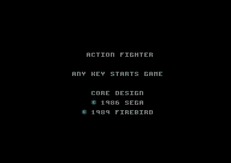 Pantallazo de Action Fighter para Amstrad CPC