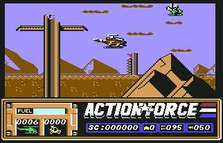Pantallazo de Action Force para Commodore 64