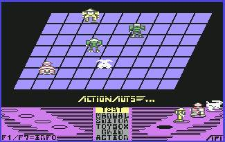 Pantallazo de Actionauts para Commodore 64