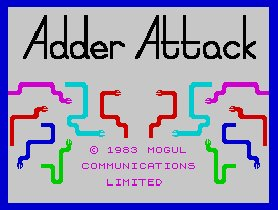 Pantallazo de Adder Attack para Spectrum