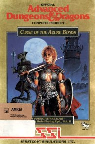 Caratula de Advanced Dungeons & Dragons: Curse of the Azure Bonds para Amiga