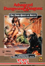 Caratula de Advanced Dungeons & Dragons: Dark Queen of Krynn para Amiga