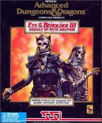 Caratula de Advanced Dungeons & Dragons: Eye of the Beholder III -- Assault on Myth Drannor para PC