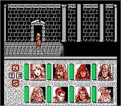 Pantallazo de Advanced Dungeons & Dragons: Heroes of the Lance para Nintendo (NES)