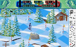 Pantallazo de Advanced Ski Simulator para Amiga