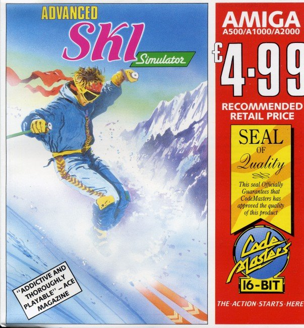 Caratula de Advanced Ski Simulator para Amiga