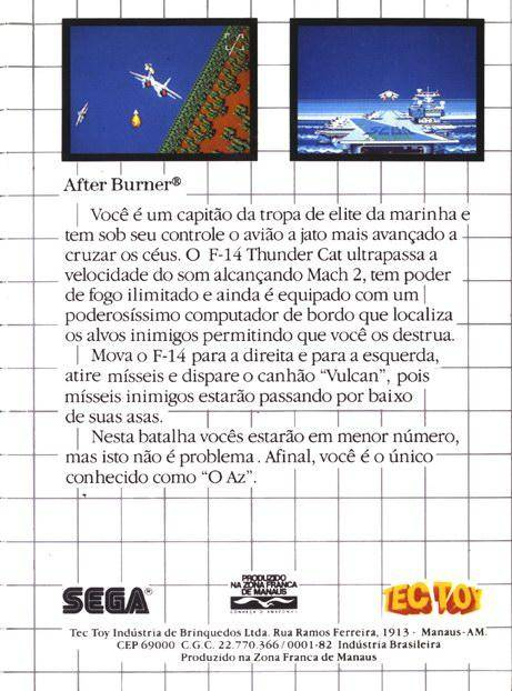 Caratula de After Burner para Sega Master System