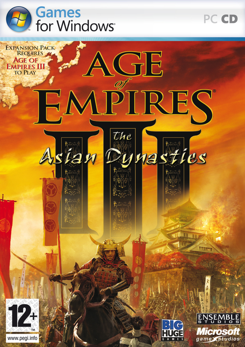 Caratula de Age of Empires III: The Asian Dynasties para PC