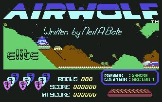 Pantallazo de Airwolf para Commodore 64