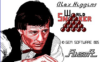 Pantallazo de Alex Higgins World Snooker para Amstrad CPC