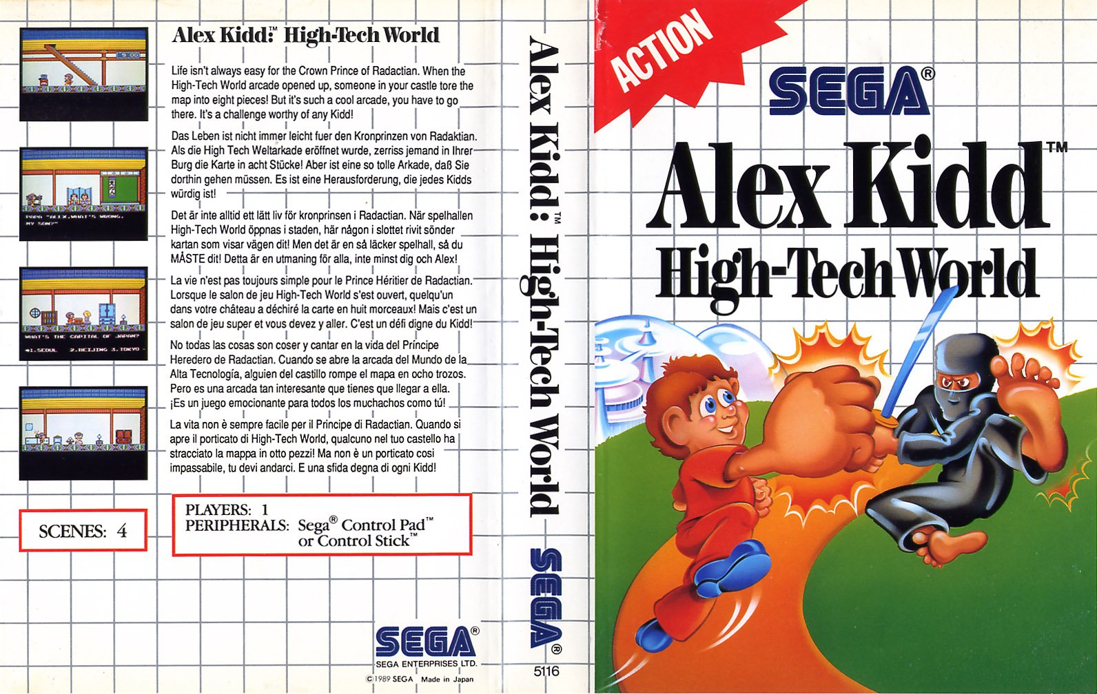 Caratula de Alex Kidd: High-Tech World para Sega Master System