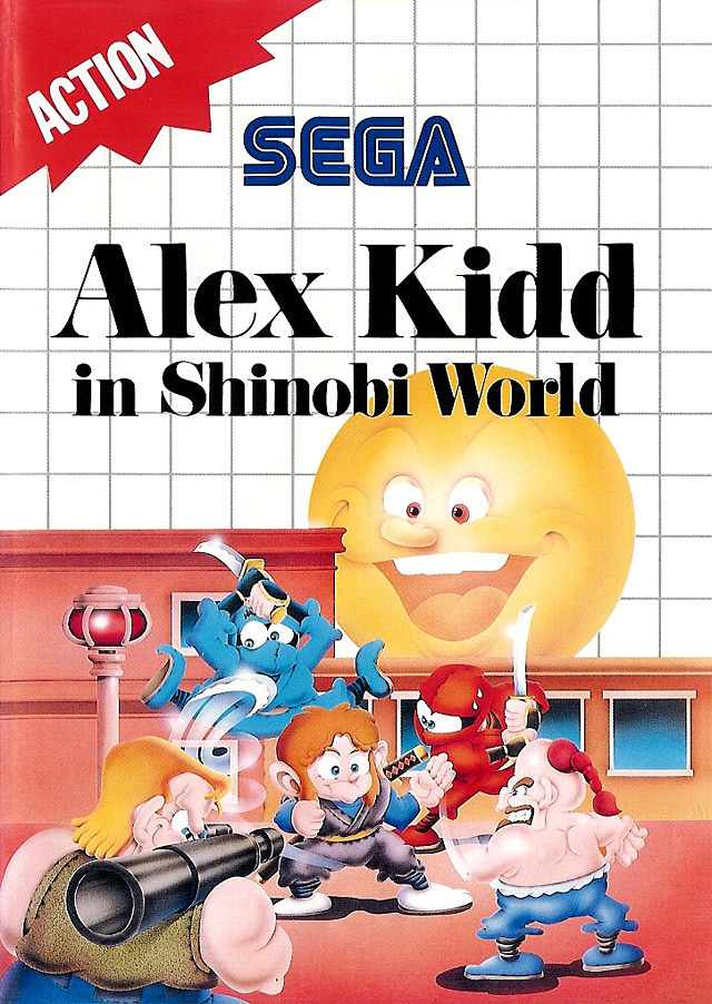 Caratula de Alex Kidd in Shinobi World para Sega Master System