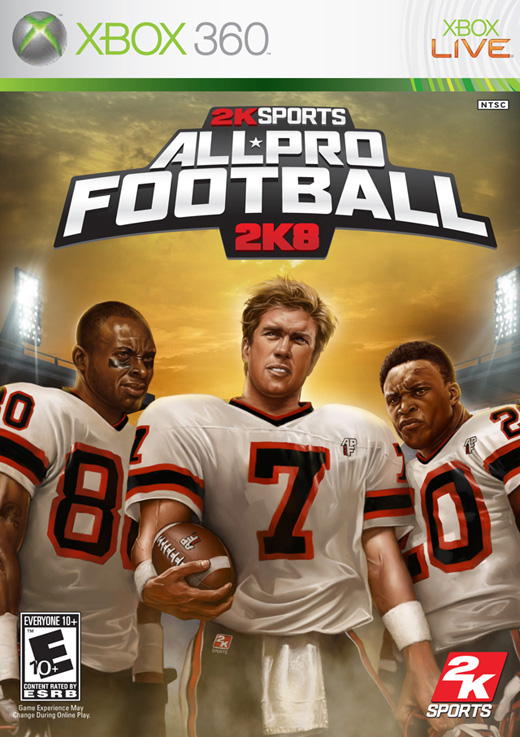 Caratula de All-Pro Football 2K8 para Xbox 360