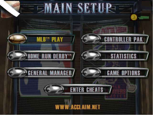 Pantallazo de All-Star Baseball 99 para Nintendo 64