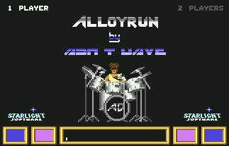 Pantallazo de Alloyrun para Commodore 64