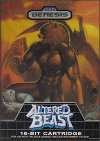 Caratula de Altered Beast para Sega Megadrive
