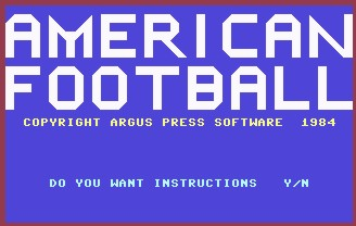 Pantallazo de American Football para Commodore 64