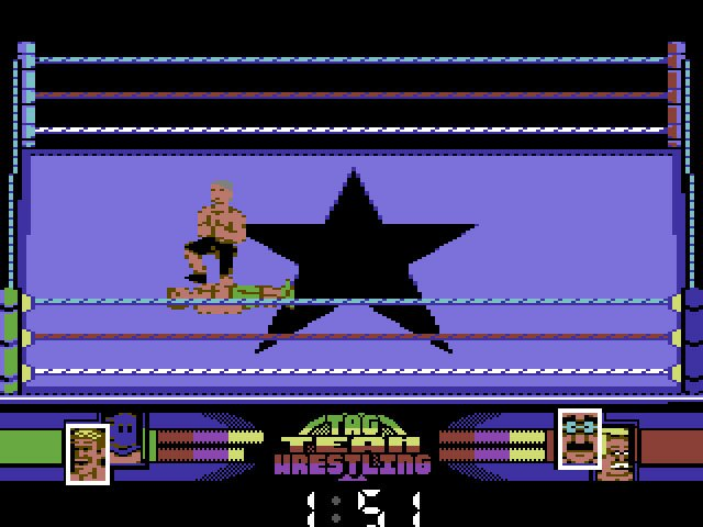 Pantallazo de American Tag-Team Wrestling para Commodore 64