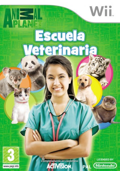 Caratula de Animal Planet: Escuela Veterinaria para Wii