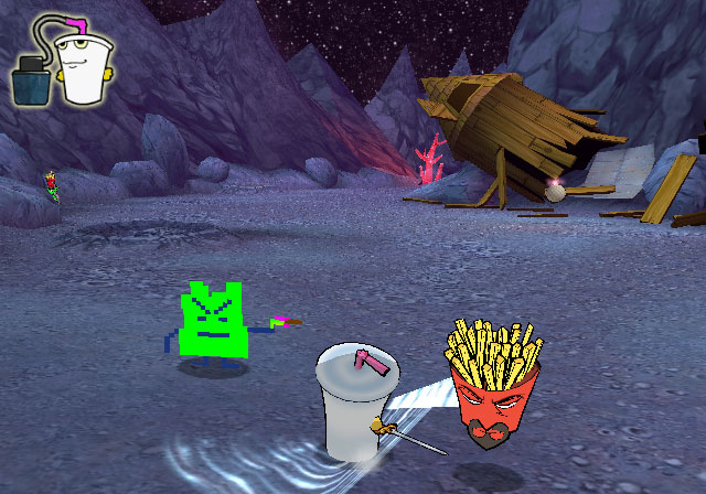 Pantallazo de Aqua Teen Hunger Force Zombie Ninja Pro-Am para PlayStation 2
