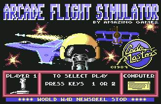 Pantallazo de Arcade Flight Simulator para Commodore 64