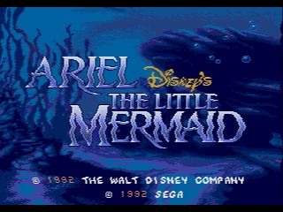 Pantallazo de Ariel: Disney's The Little Mermaid para Sega Megadrive