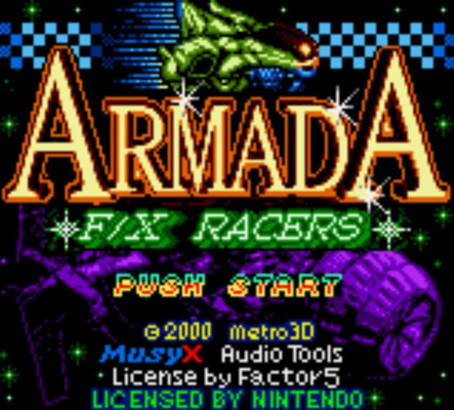 Pantallazo de Armada F/X Racers para Game Boy Color