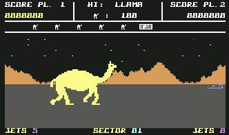 Pantallazo de Attack of the Mutant Camels para Commodore 64
