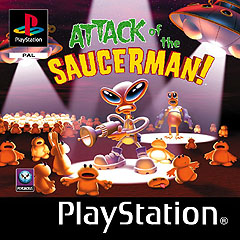 Caratula de Attack of the Saucerman para PlayStation