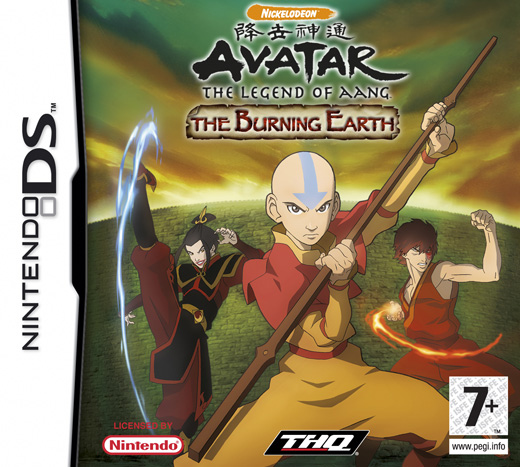 Caratula de Avatar : The Last Airbender - The Burning Earth para Nintendo DS