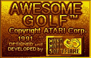 Pantallazo de Awesome Golf para Atari Lynx