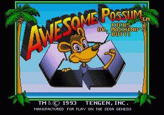 Pantallazo de Awesome Possum Kicks Dr. Machino's Butt! para Sega Megadrive