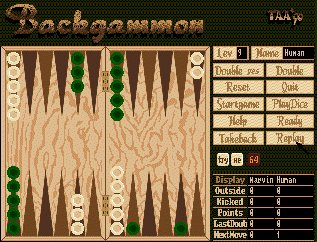 Pantallazo de Backgammon (Magic Soft) para Amiga