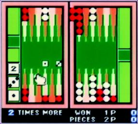 Pantallazo de Backgammon para Game Boy Color