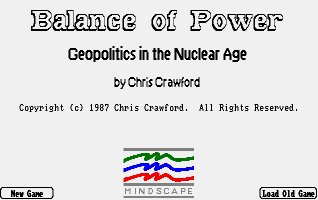 Pantallazo de Balance Of Power: Geopolitics In The Nuclear Age para Amiga