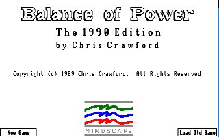 Pantallazo de Balance Of Power: The 1990 Edition para Amiga