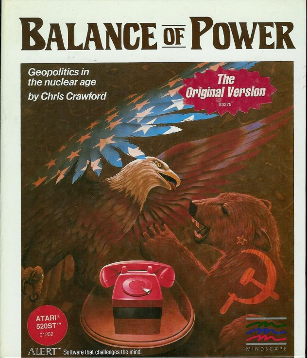 Caratula de Balance of Power: Geopolitics in the Nuclear Age para Atari ST